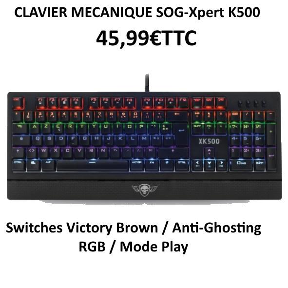 Clavier Mécanique LED RGB XPERT-K500  45,99€TTC